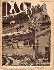 rivista RACI 1933 numero 20 BADOGLIO GRAN PREMIO DI TRIPOLI