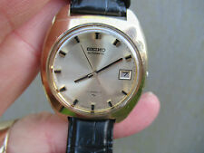 SEIKO 17 JEWELS AUTOMATIC UFO 7005-8042 JUNE 1974 GOLD METALLIC DIAL NICE STRAP