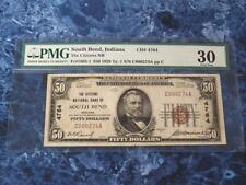"1929 $50 Fr#1803-1 Type 1 ""The Citizens Nb South Bend, In Pmg Vf30 - Low Serial!"