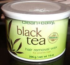 Hard wax from black tea , clean and easy