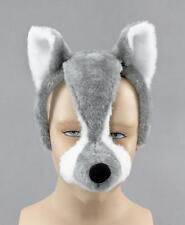 Big Bad Wolf Face Mask & Sound Werewolf Animal Fancy Dress Costume Outfit New