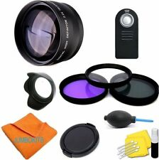 58MM 2X Telephoto Zoom Lens KIT for Canon EOS 5D 6D 7D T3 T3I T4 T4I XS XSI