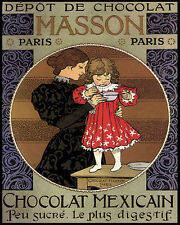 MOTHER CHILD CHOCOLATE CHOCOLAT MEXICAN PARIS 8X10 VINTAGE POSTER REPRO FREE S/H