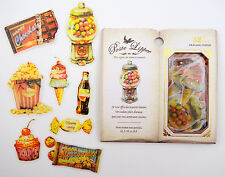 LARGE Sweets & treats Japanese sticker flakes! Ice cream, cupcakes, soda, & more