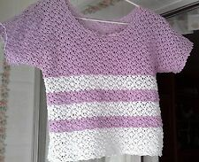 HANDMADE CROCHETED COTTON SWEATER (LACE)