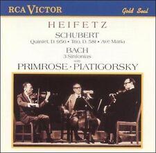 Schubert: Quintet, D. 956 / Trio No. 2, D. 581, Ave Maria / Bach: 3 Sinfonias, N