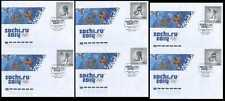 2013. Russia. Winter Games. Sochi-2014. Winter Olympic sports. 6 FDCs