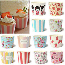 50Pcs Paper Cake Cup Cupcake Cases Liners Muffin Dessert Baking etc..