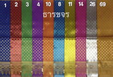 Lot of 10 Thai Tradition Synthetic Silk Fabric for Women Wedding Dress Skirt