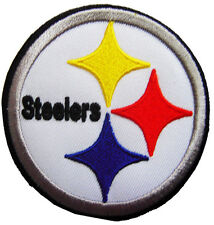 NFL Pittsburgh Steelers Logo Football embroidered iron-on patch. 3 inch (i26)