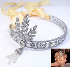 NWT Bridal Great Gatsby 1920s Vintage Style Headpiece Pearls Charleston Headband