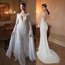 Neu Weiß Brautkleid Partykleid Stickerei Abschlussball Abend Brautkleider