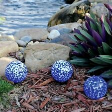 TOTAL POND 3 Blown Glass Low Voltage LED Pond Landscape Lights NIP Blue