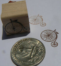 "Miniature Antique Bicycle rubber stamp WM 0.8x0.8"" Victorian"