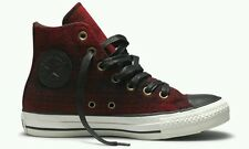 WOOLRICH x CONVERSE ALL STAR CHUCK TAYLOR SHOES W 8 M 6 RED BLACK SHADOW PLAID
