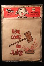 """Vintage 1960's """"Here Comes da Judge"""" Iron On Transfer Hippies TV Laugh In SEALED"""