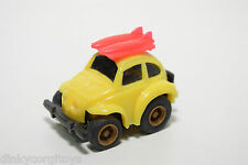 PLASTIC FIRST TOY TAIWAN VW VOLKSWAGEN BEETLE KAFER YELLOW EXCELLENT CONDITION