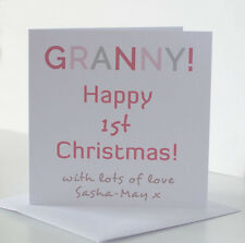 Granny Christmas Card from The Baby. New Gran Grandma First 1st Christmas Card.