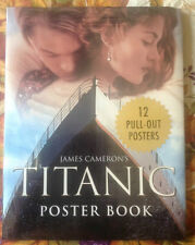 James Cameron's Titanic Poster Book/12 Pull-Out Posters 1998 Movie ~ Sealed