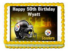 Pittsburgh STEELERS party decoration edible cake image cake topper frosting