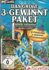 PC CD-ROM + Das grosse 3-Gewinnt Paket + Jewel Legends + Deep Ocean u.a. +Win 7