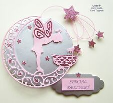 3D NEW BABY **SPECIAL DELIVERY** CARD CRAFT TOPPER, EMBELLISHMENT  NB-SD-GIRL