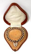 Antique Rose Gold Bracelet & Padlock, c1900, Perfect Condition, Original Box