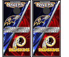 baltimore ravens & washington redskins 0109 Custom Cornhole board decals wraps
