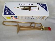 TROMBONE KAZOO 11 Long  Music Gift Bronze Metal Movable Slide Brand NEW USA
