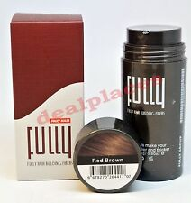 FULLY HAIR Building Fibers Red Brown 23 g Hair Loss Concealer NO BALD SPOTS