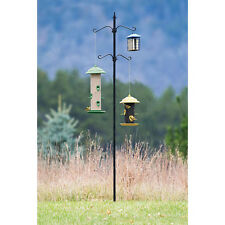 Bird Seed Feeder Pole Kit Bird Outdoor Living Garden Backyard Platform Hanger