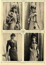 Mode der Kaiserzeit ...Hauskleid aus automobilfarbener Serge mit weißer...1900