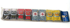 Vintage 8 TN Nakamura Tinplate Cars Vehicles Taxi Police Ambulance Tin Toy Japan