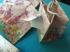 Lot of 5 FLOWER Floral MINI Gift Bag JEWELRY Candy Card flat style Doll Bear