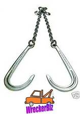 G43 WRECKER TOW TRUCK V CHAIN V BRIDLE - LONG J HOOK for Rollback, Car Carrier
