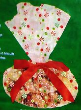 "Cellophane Christmas Cookie Tray Bags 3 Count 15.5"" x 19"" W/ Ribbons & Tags"