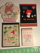 Rare Htf Sanrio Original My Melody Notepad Writing Pad Lot Cute 2008 Stationery