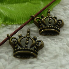 free ship 108 pcs bronze plated crown charms 21x19mm #4321