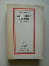 Scritti di corte e di Mondo Lorenzo Malagotti Enrico Falqui 1945