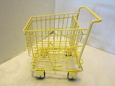 "Yellow 8"" wire Shopping Cart Basket American girl Dolls doll house Groceries ad"