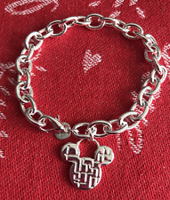 Mickey Mouse Inspired 925 Steling Silver Charm Bracelet