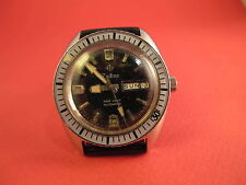 ZODIAC VINTAGE STEEL SEA WOLF AUTOMATIC MENS WATCH NO RESERVE