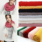 New Women Girls Knitted Long Wool Circle Scarf Shawl Wrap Neck Warmer 11 Colors