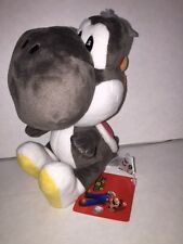 "Super Mario YOSHI BLACK 6"" Licensed Plush - Sanei/Litte Buddy  - New with Tags"