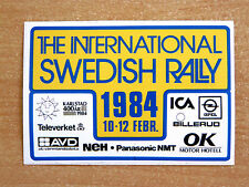 1984 International Swedish Rally / Motorsport Sticker Decal