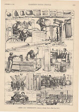 EARLY CHEESE MAKING DAIRY MAKING CHEESE ANTIQUE ART FOOD PRINT 1891
