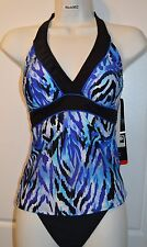 NWT Women's MIRACLESUIT Halter Tankini SWIMSUIT by Kirkland Bathing Suit Size 10