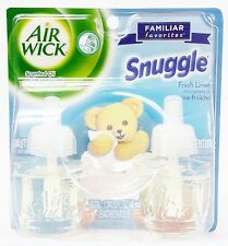 2 REFILLS Air Wick SNUGGLE Fresh Linen Scented Oil Plug In Refill
