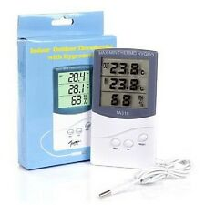 Digital LCD Indoor/Outdoor Thermometer Hygrometer Humidity Time Meter TA-318
