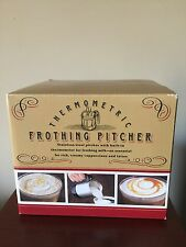 Williams Sonoma Thermometric Frothing Milk Pitcher NIB Battery Operated